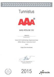 AAA krediidireitingu tunnistus